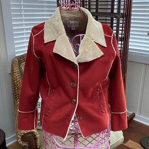 Calispia faux suede jacket Size M Vegan Friendly